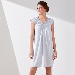 Jersey Crochet Lace Trim Nightgown