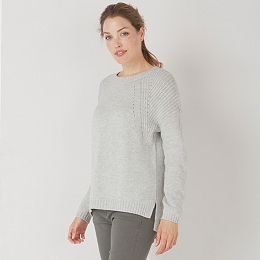 Chunky Ribbed Sweater - Pale Gray Marl