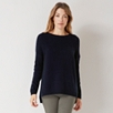 Chunky Ribbed Sweater - Navy
