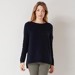 Chunky Ribbed Sweater - Navy