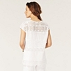 Crochet Stripe T-Shirt - White