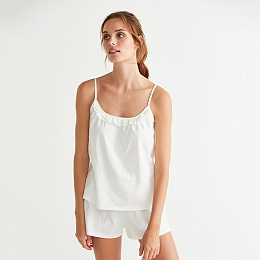 Ruffle Trim Cami & Shorts Set