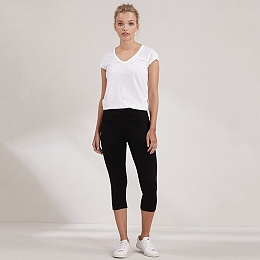 Yoga Crop Roll Top Pants