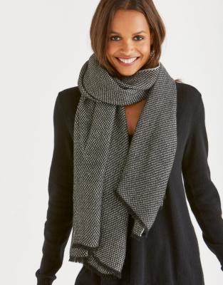 Contrast Wool Scarf