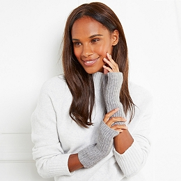 Cashmere Ribbed Wrist Warmers