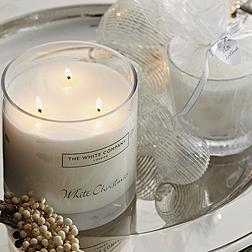 White Christmas Large Candle