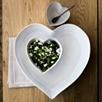 Porto Stoneware Small Heart Roaster