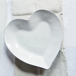 Porto Stoneware Heart Dinner Plate