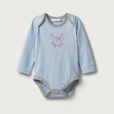 Crab Embroidered Bodysuit