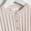 Cropped Cable Cardigan - Pink