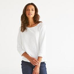 Cotton Button Back T-Shirt