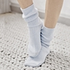 Cashmere Bed Socks - Ice Blue