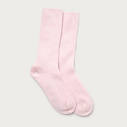 Cashmere Bed Socks - Pale Pink