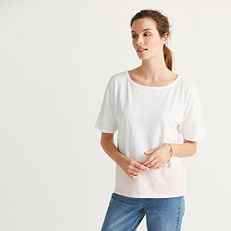 Cotton Slub Color Block T-Shirt