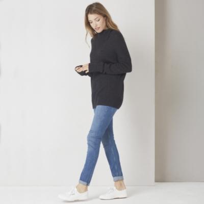 Chunky Sleeve Detail Sweater