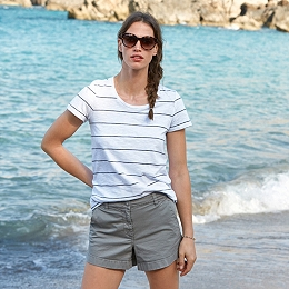 Cotton Fine Stripe T-Shirt