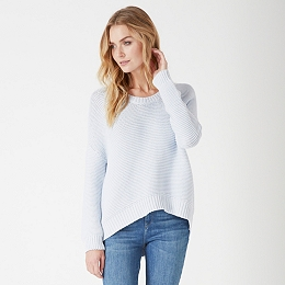 Chunky Stitch Cocoon Sweater - Pale Blue Marl