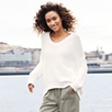 Chunky Stitch Cocoon Sweater - Porcelain