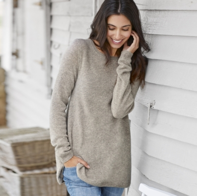 Cashmere Swing Sweater - Mink Marl