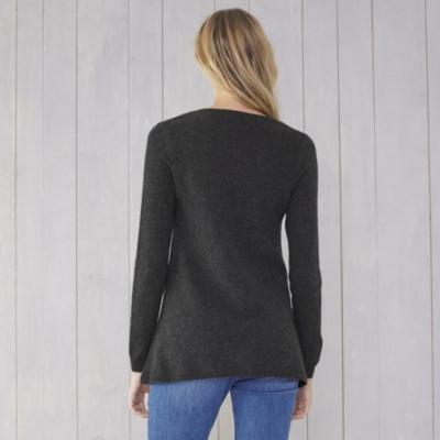 Cashmere Swing Sweater - Dark Charcoal Marl