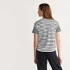 Cotton Short Sleeve Stripe Sweater