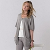 Sleeveless Cocoon Cardigan - Rose Gray