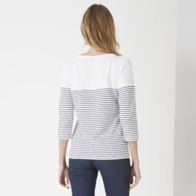 Cotton Slub Breton Striped T-shirt