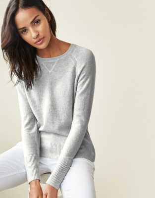 Cashmere Sweater - Pale Gray Marl