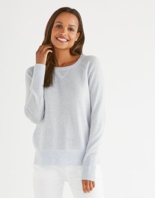 Cashmere Sweater - Pale Blue Marl