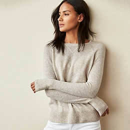 Cashmere Sweater - Taupe Marl