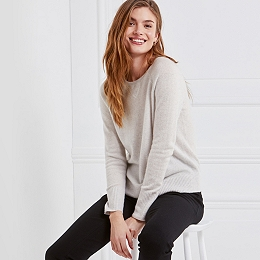 Cashmere Sweatshirt Jumper - Cloud Marl