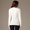Striped Cashmere Sweater - Winter White