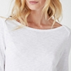 Cotton Slub Scallop Edge T-shirt