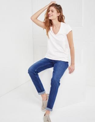 Cotton V-Neck T-shirt - White
