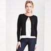 Contrast Trim Edge-to-Edge Cardigan