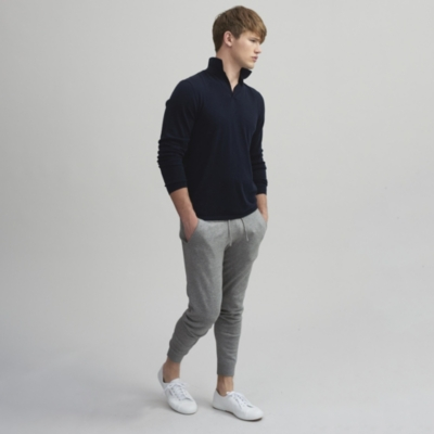 Cotton Cashmere Joggers - Mid Gray Marl