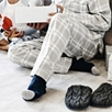 Contrast Toe Cashmere Socks