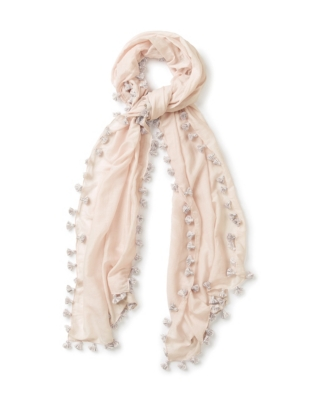 Cotton-Silk Tassel Scarf