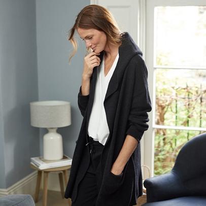 Lounge Chunky Hooded Cardigan | Loungewear | The White Company US