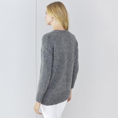 Chunky V Neck Sparkle Sweater