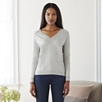 Contrast Trim V-Neck Sweater