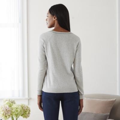 Contrast Trim V-Neck Sweater