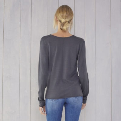 Cowl Neck Sweater - Storm Gray