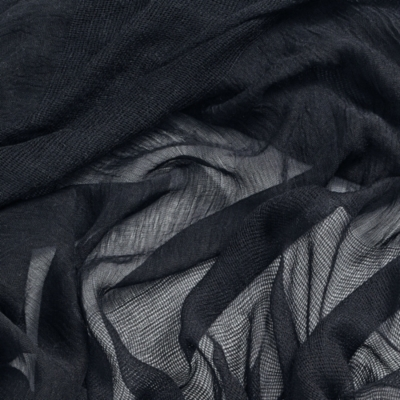 Cross Weave Detail Scarf - Navy