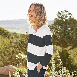 Cotton Wide Stripe Sweater