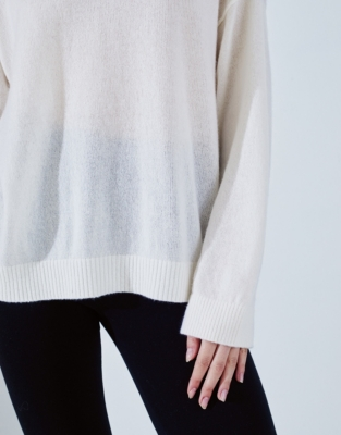 Cashmere Wide Neck Sweater