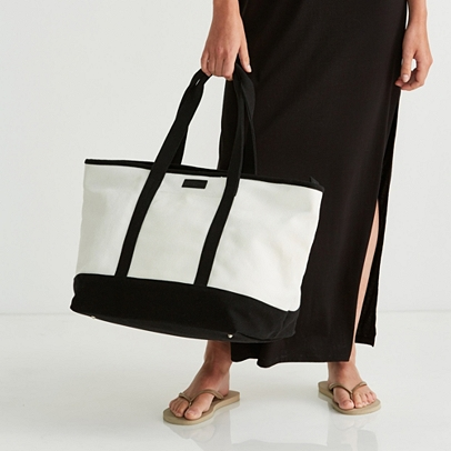 Canvas Weekend Tote Bag | Bags & Purses | The White Company UK