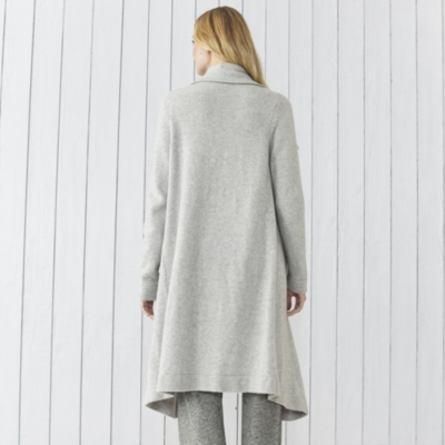 Cashmere Wide Trim Cardigan