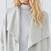 Cashmere Wide Trim Cardigan