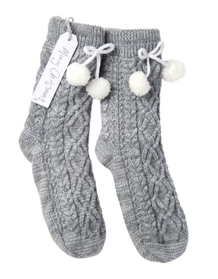 Chunky Knit Slipper Socks Sleepwear The White Company Us